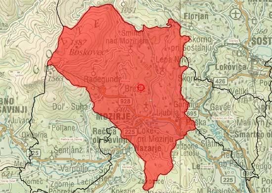 Obseg občine Mozirje